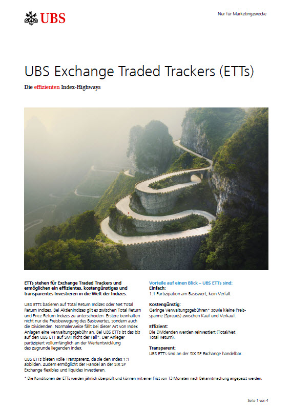 Exchange Traded Trackers (ETTs) Factsheet